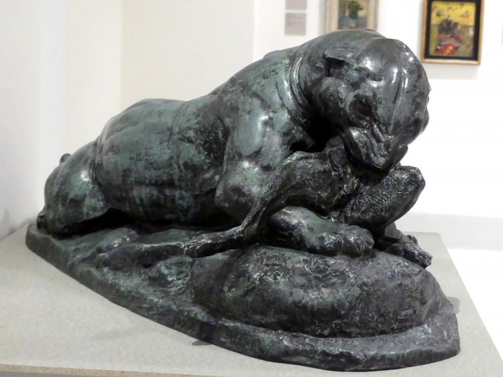 Antoine-Louis Barye: Jaguar einen Hasen reißend, 1850