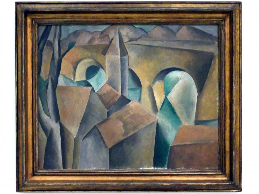 Pablo Picasso: Landschaft mit Brücke, 1909