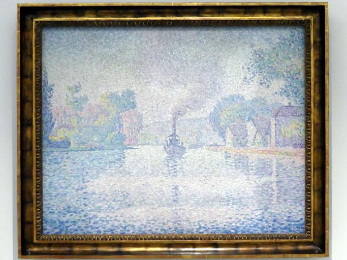 Paul Signac: Dampfer L'Hirondelle auf der Seine, 1901