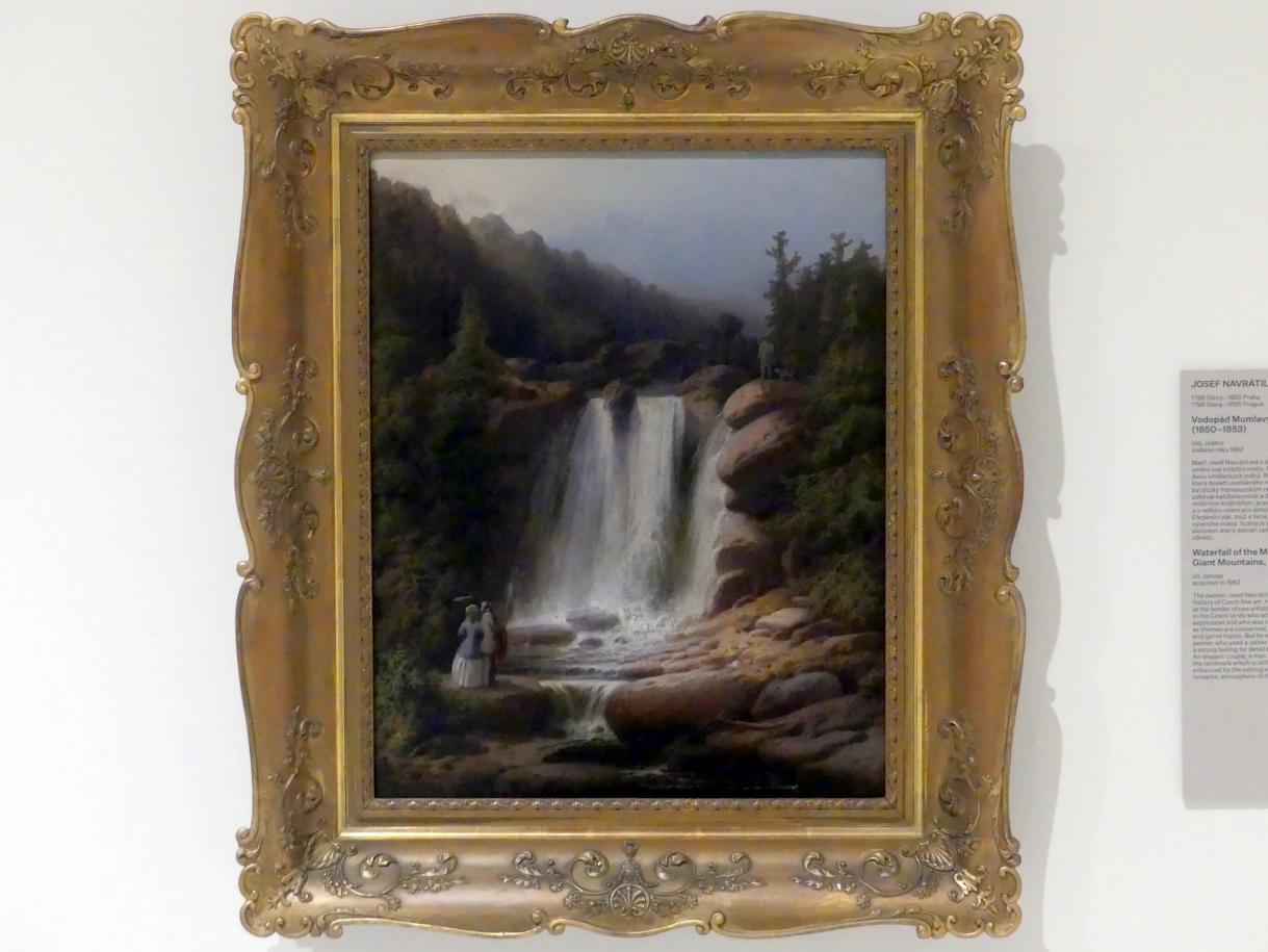 Josef Navrátil: Wasserfall am Fluss Mumlava im Riesengebirge, 1850 - 1853, Bild 1/2