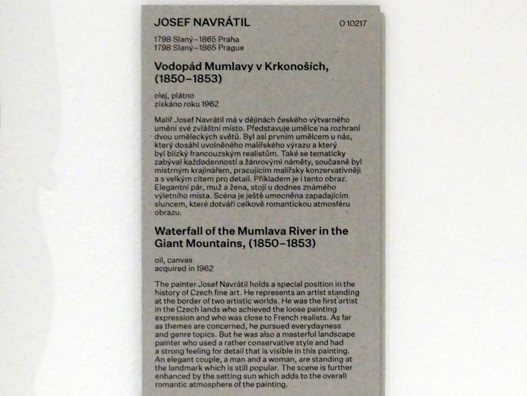 Josef Navrátil: Wasserfall am Fluss Mumlava im Riesengebirge, 1850 - 1853, Bild 2/2