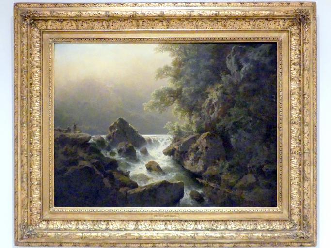 Charlotte Piepenhagen: Sujet in Tirol (Wasserfall, Am Bergfluss), 1879