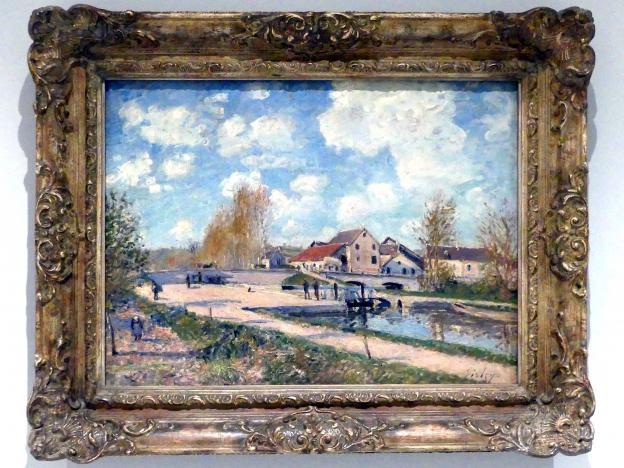 Alfred Sisley: Die Bourgogne-Schleuse in Moret, 1882