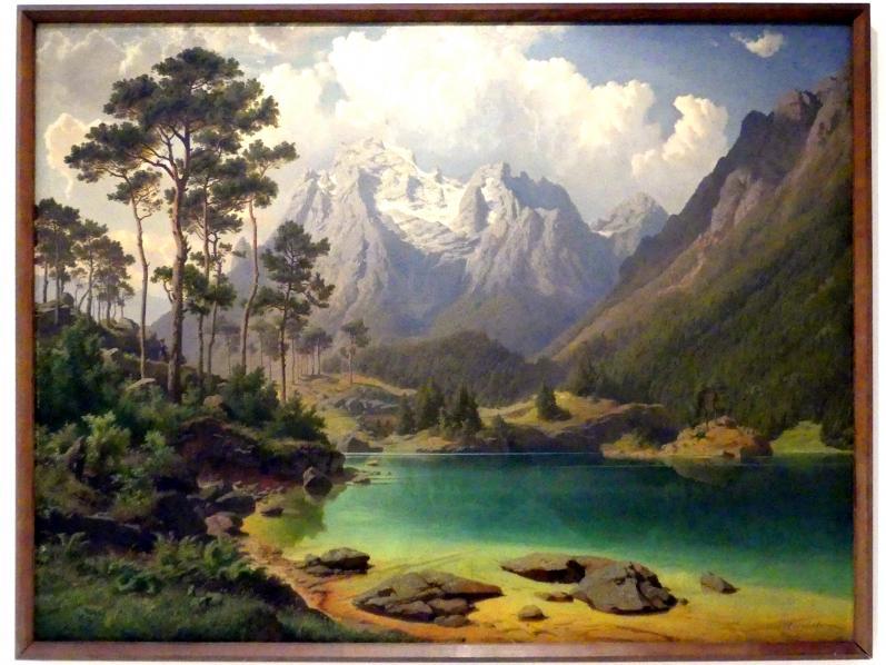 Max Haushofer: Weißensee bei Lermoos in Tirol, 1863