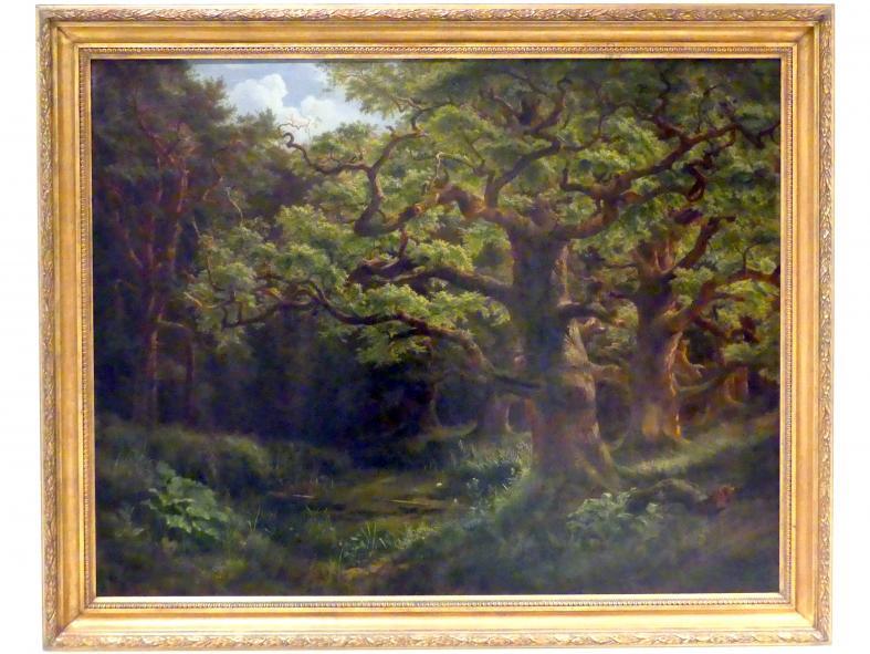 Bedřich Havránek: Wald in Choltice bei Pardubice, 1853