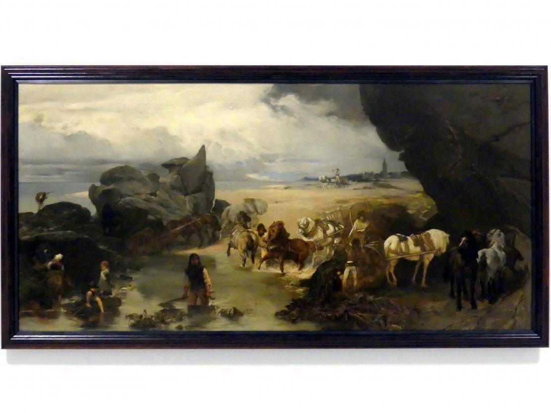 Jaroslav Čermák: Leben am Strand bei Roscoff, nach 1869