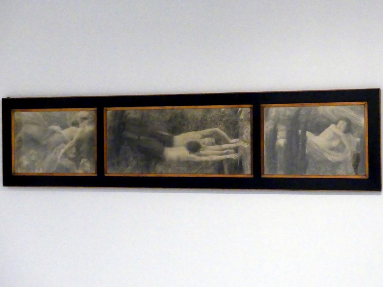Jan Preisler: Wind und Brise - Triptychon, 1896