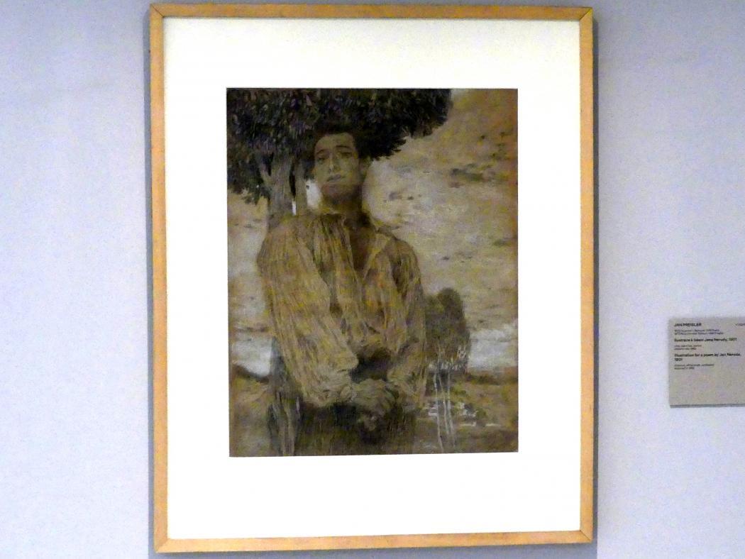 Jan Preisler: Illustration für ein Gedicht von Jan Neruda, 1901