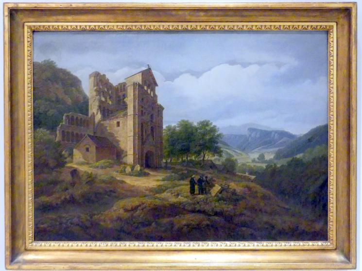 Antonín Mánes: Landschaft mit Tempelruinen (Landschaft mit den Ruinen der Kelso Abbey), 1827 - 1828