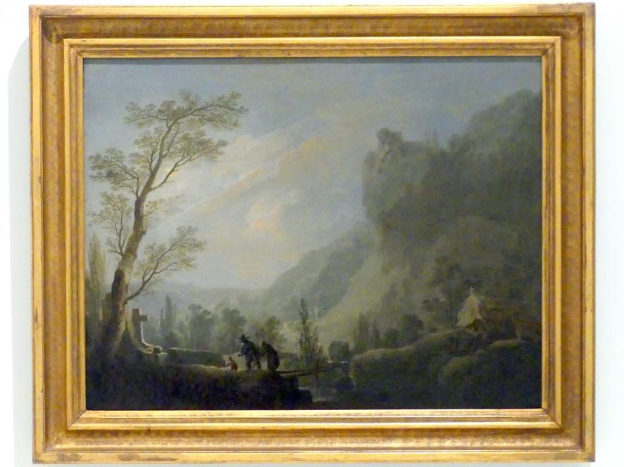 Franz Xaver Procházka: Friedhof in den Bergen (fantastische Landschaft), 1806