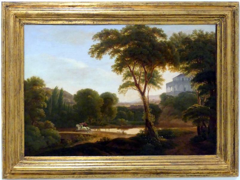 Antonín Mánes: Landschaft mit dem Belvedere I, 1816