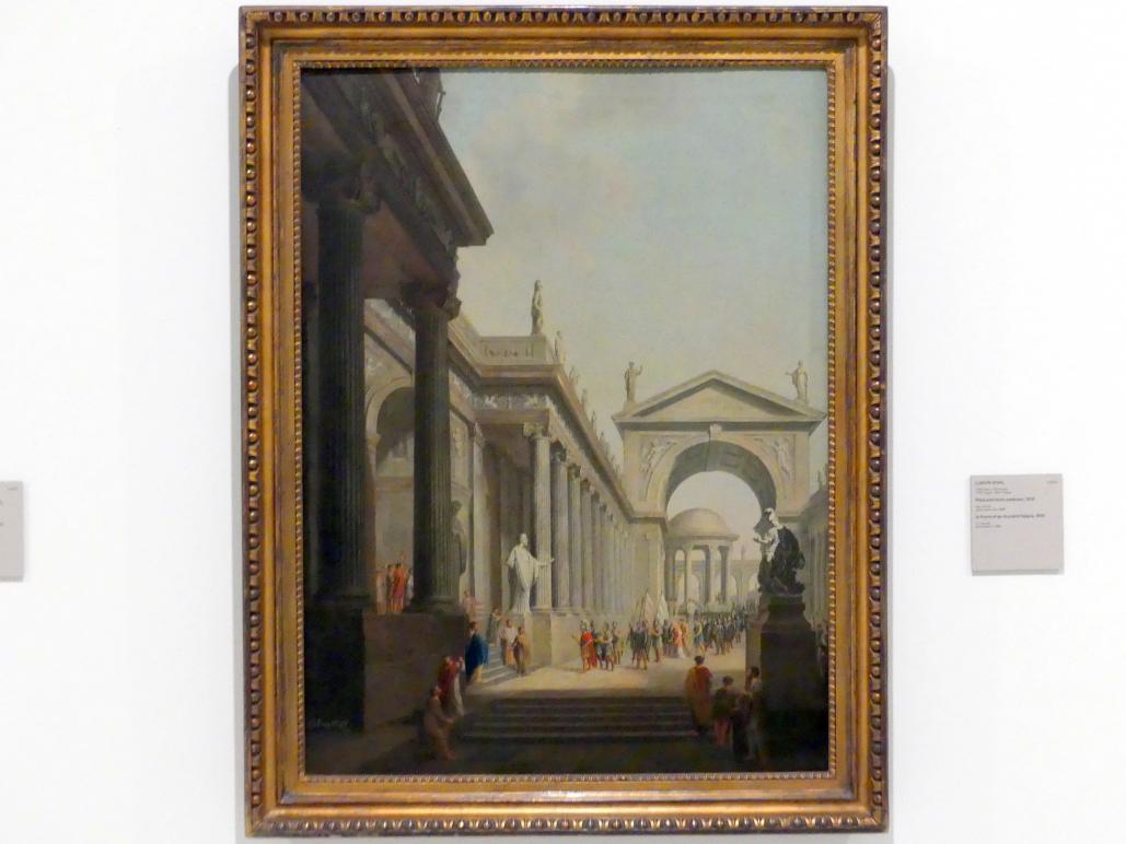 Ludwig Kohl: Vor einem antiken Palast, 1816