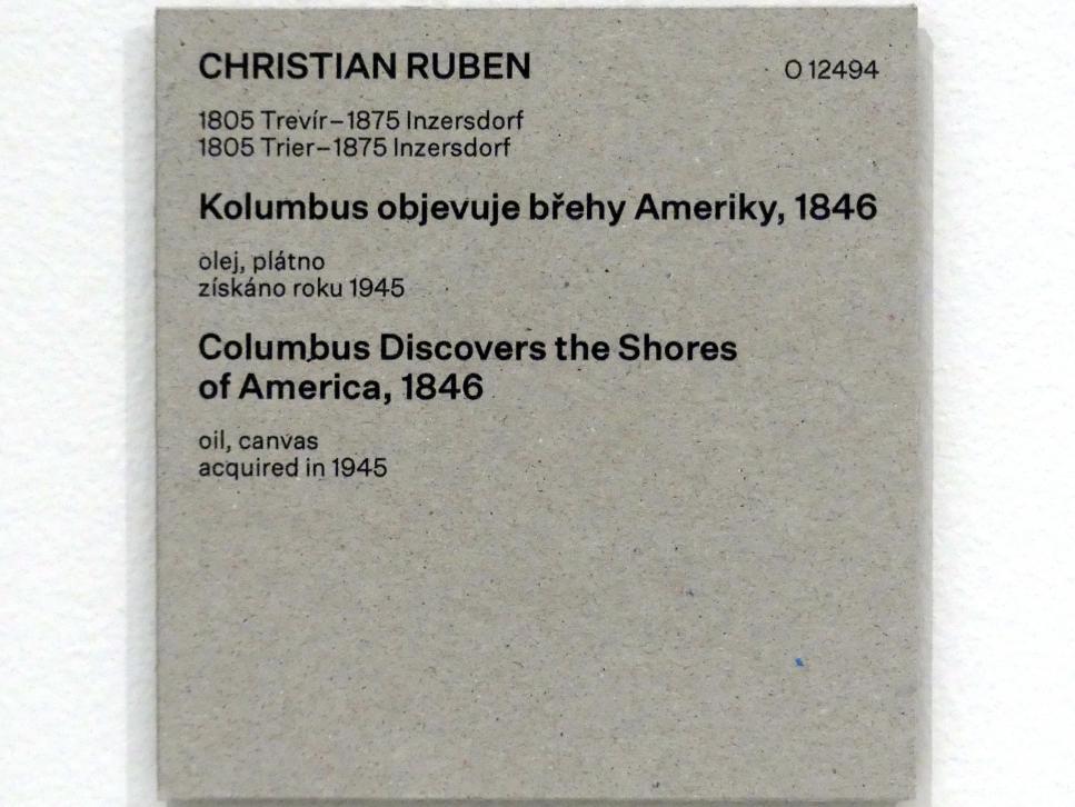 Christian Ruben: Kolumbus erobert die Küste von Amerika, 1846, Bild 2/2