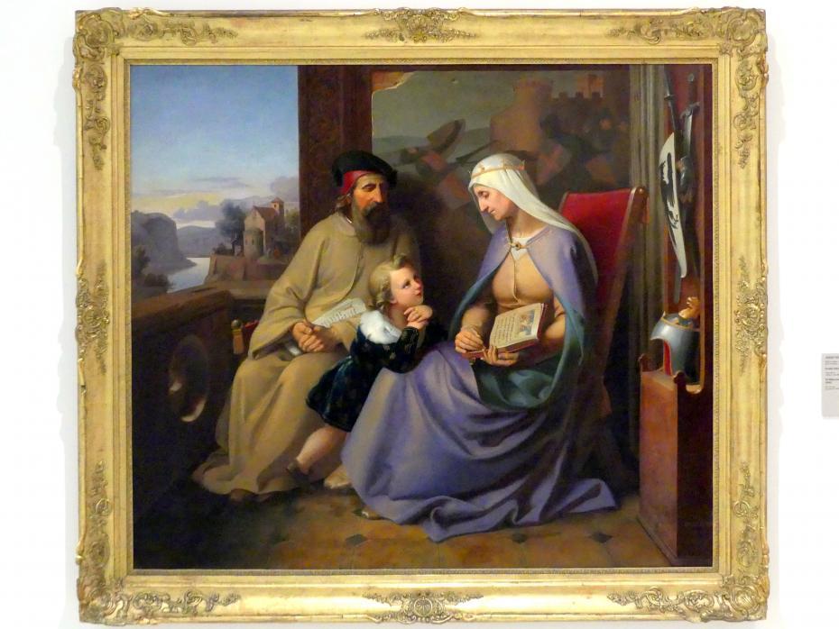 Josef Vojtěch Hellich: Der heilige Wenzel wird in Tetín unterrichtet, 1840