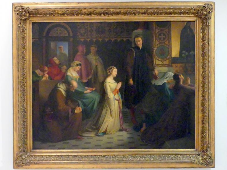 Josef Mánes: Das Treffen von Petrarca und Laura in Avignon, 1845 - 1846