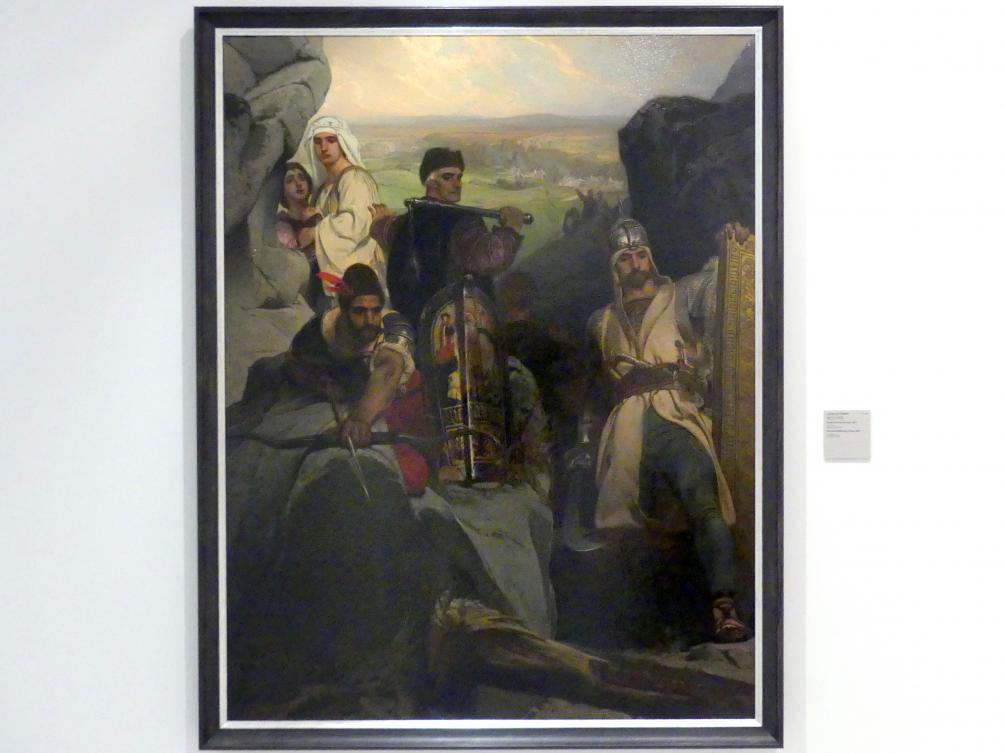 Jaroslav Čermák: Hussiten den Pass verteidigend, 1857