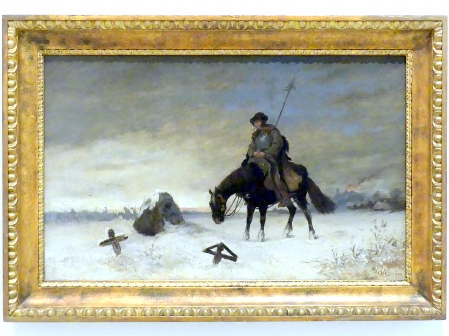 Mikoláš Aleš: Am Grab der Gotteskrieger, 1877