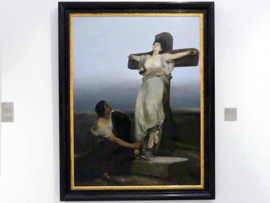 Gabriel von Max: Heilige Julia (Martyrium am Kreuz), 1865