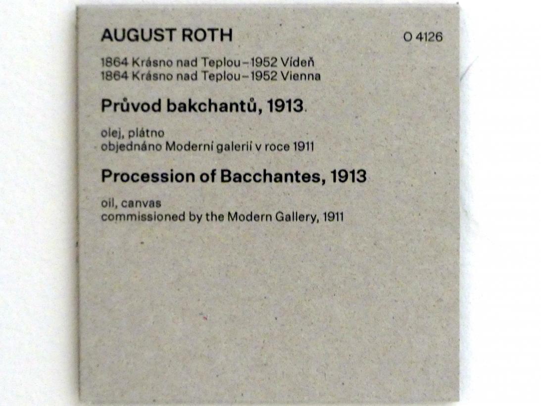 August Roth: Prozession von Bakchanten, 1913, Bild 2/2