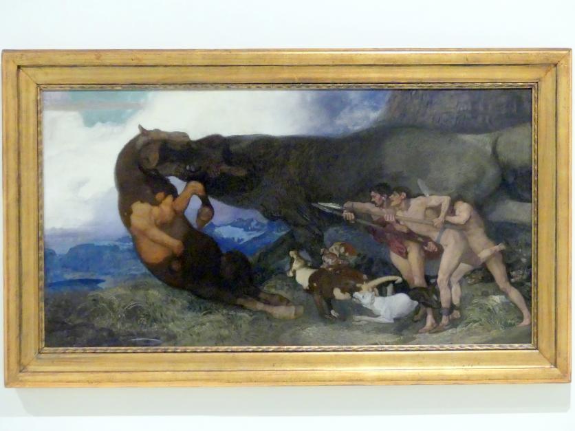 Rudolf Jettmar: Kampf mit einem Monster, 1903