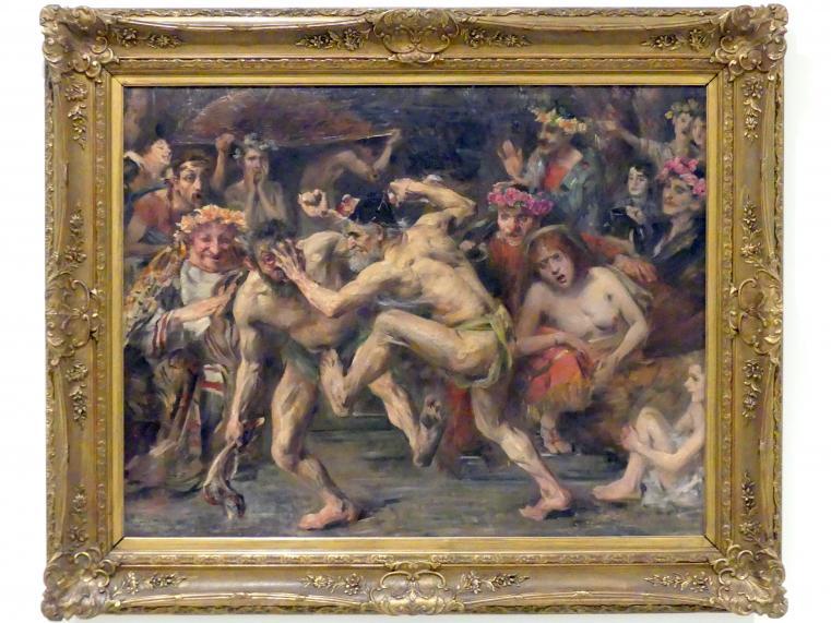 Lovis Corinth: Odysseus im Kampf mit dem Bettler, 1903