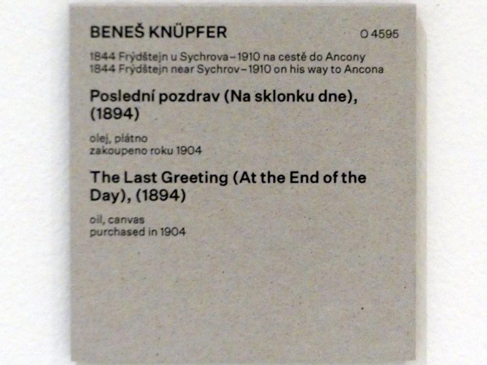 Beneš Knüpfer: Letzter Gruß (Am Ende des Tages), 1894, Bild 2/2
