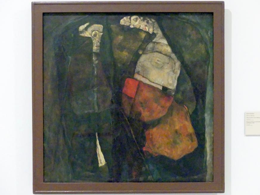 Egon Schiele: Schwangere Frau und der Tod (Mutter und Tod), 1911