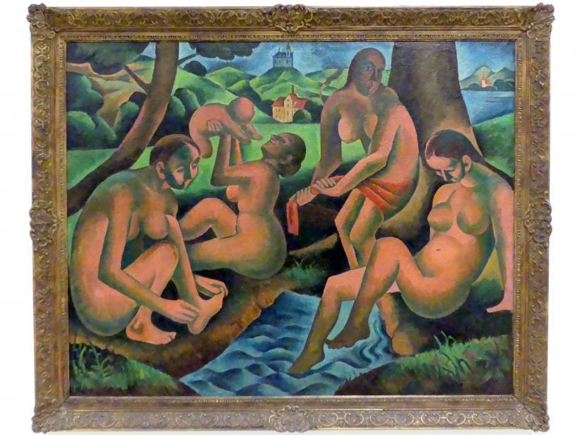 Bohumil Kubišta: Badende Frauen, 1911