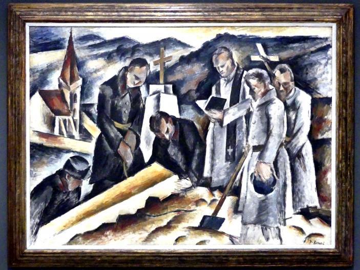 Vincenc Beneš: Soldatenbeerdigung, 1915