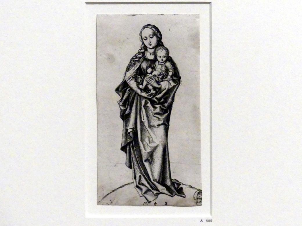 Martin Schongauer: Stehende Madonna mit dem Apfel, um 1473 - 1483