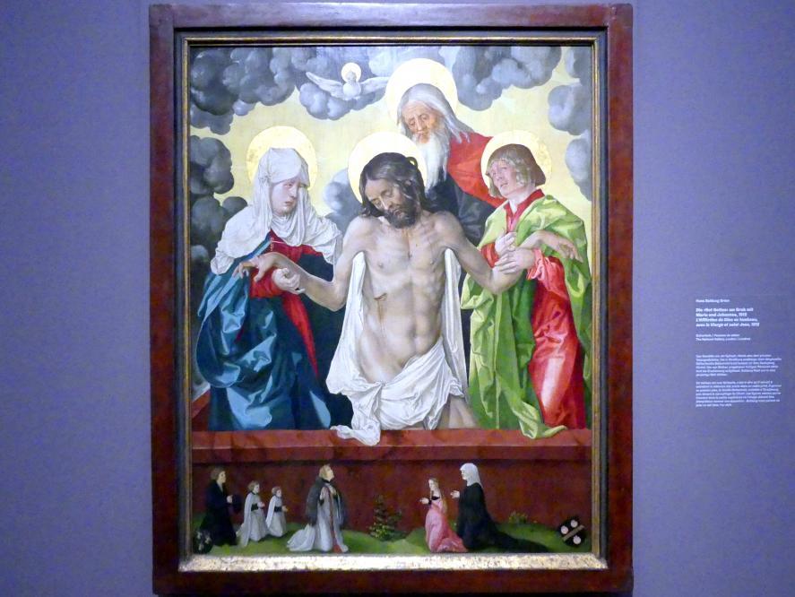 """Hans Baldung Grien: Die """"Not Gottes"""" am Grab mit Maria und Johannes, 1512"""