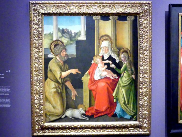 Hans Baldung Grien: Johannes der Täufer und die heilige Anna Selbdritt, um 1511