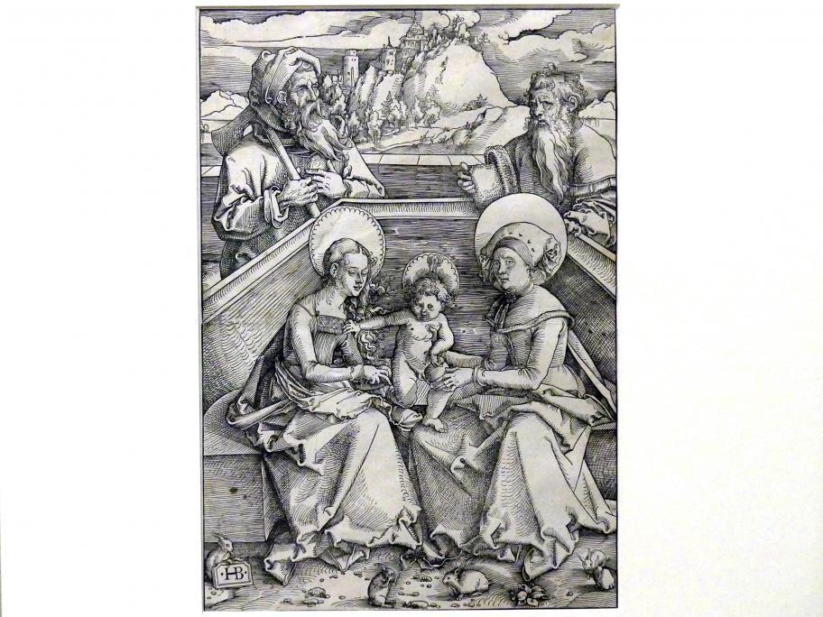 Hans Baldung Grien: Die heilige Anna Selbdritt mit Joseph und Joachim und den Hasen, um 1509 - 1510