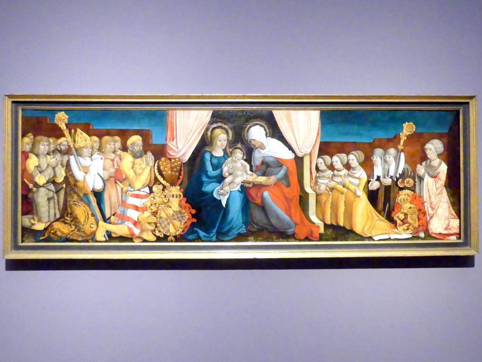 Hans Baldung Grien: Markgraf Christoph I. von Baden mit seiner Familie in Verehrung der heiligen Anna Selbdritt, um 1510