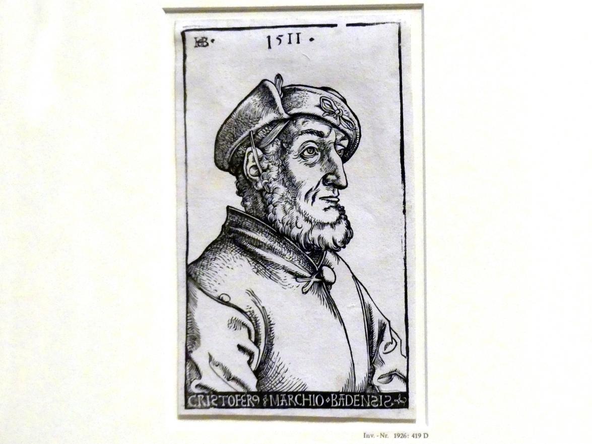 Hans Baldung Grien: Bildnis des Markgrafen Christoph I. von Baden, 1511