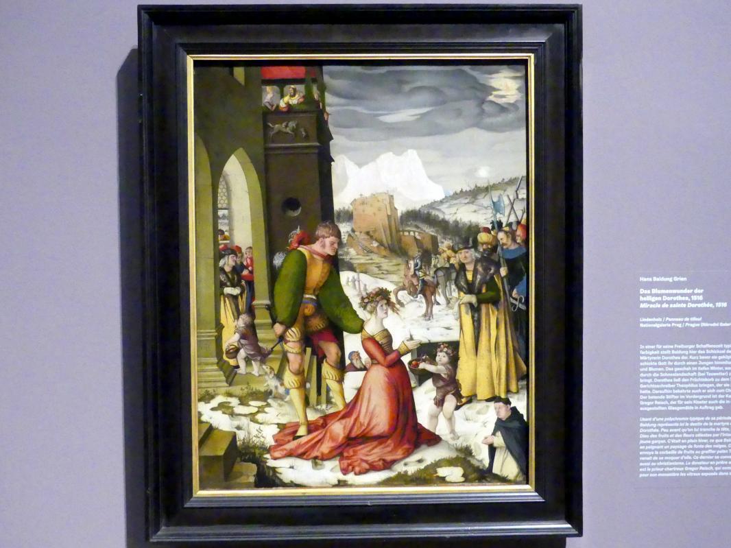 Hans Baldung Grien: Das Blumenwunder der heiligen Dorothea, 1516