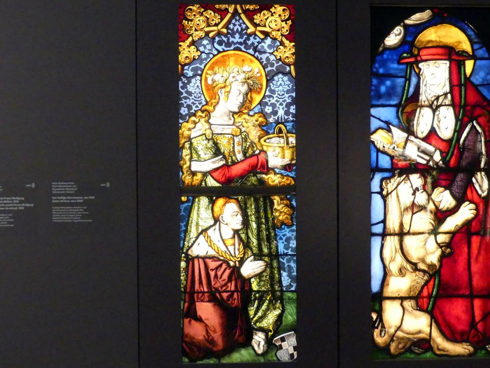 Hans Baldung Grien: Die hl. Dorothea mit Franz Wolfgang Graf von Zollern als Stifter, 1513