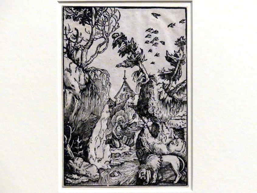 Hans Baldung Grien: Der heilige Hieronymus als Büßer in einer Schlucht, um 1511