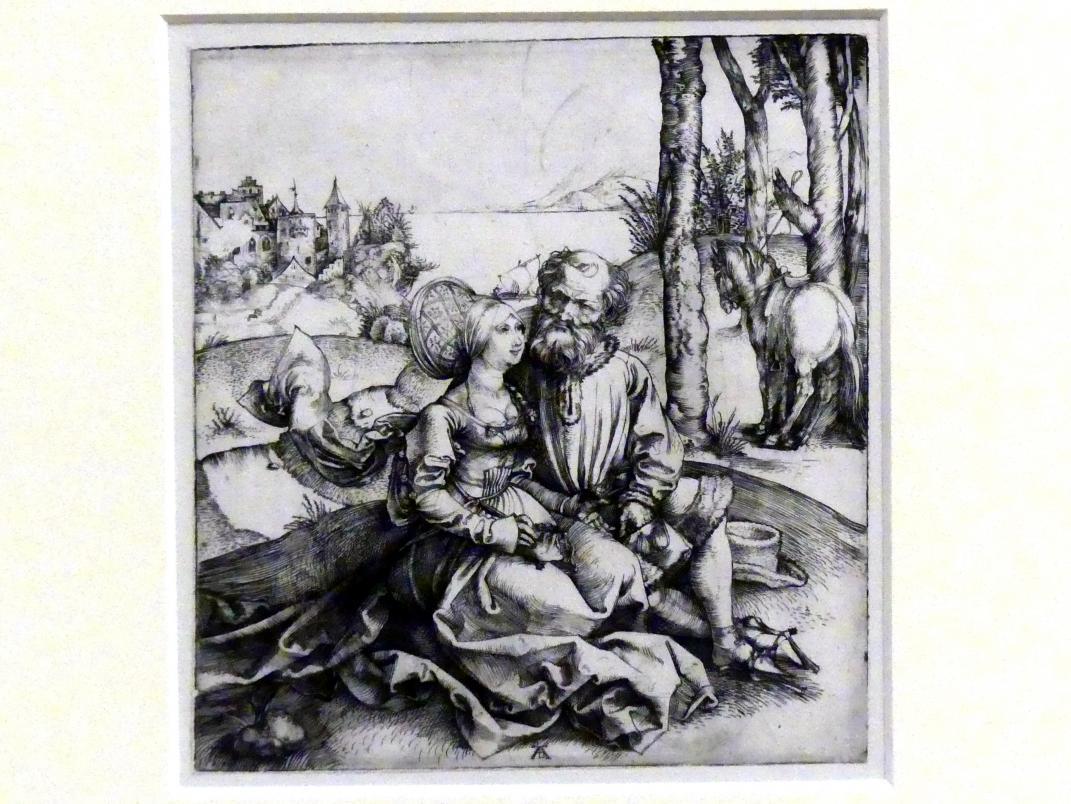 Albrecht Dürer: Das ungleiche Paar (Der Liebesantrag), um 1495