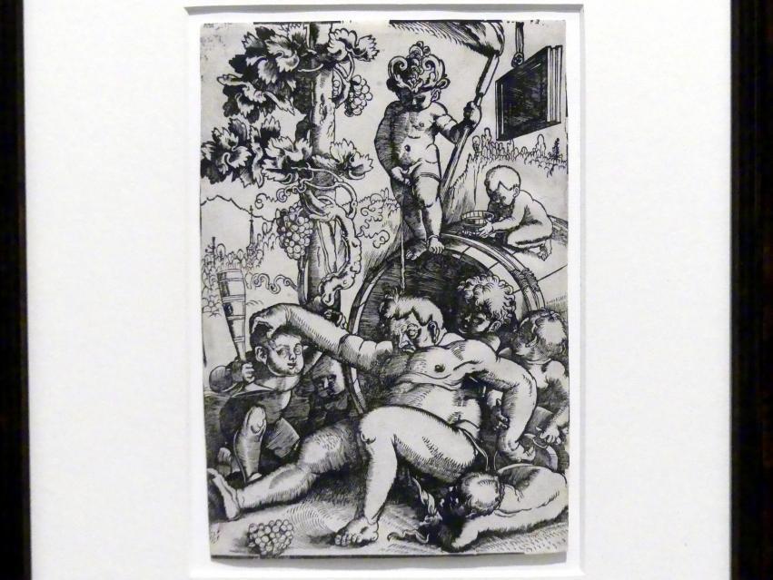 Hans Baldung Grien: Trunkener Bacchus mit spielenden Putten, um 1520