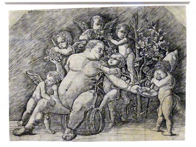 Andrea Mantegna (Umkreis): Trunkener Silen, von Putten umringt, um 1500