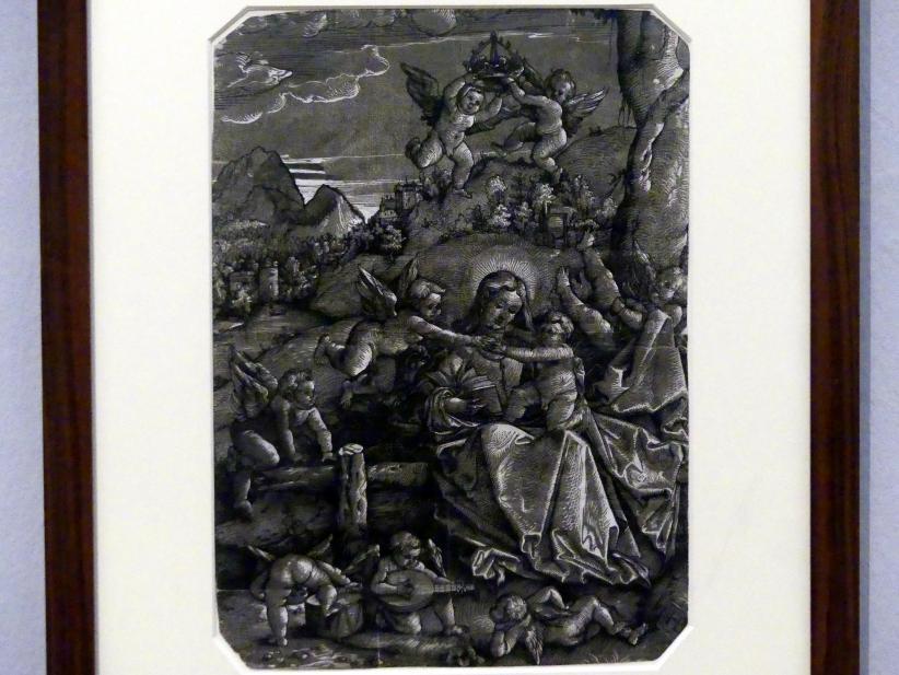 Hans Baldung Grien: Maria mit Kind und Engeln in einer Landschaft, um 1511