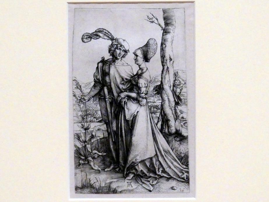 Albrecht Dürer: Das Liebespaar und der Tod (Der Spaziergang), um 1498
