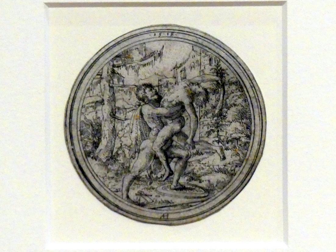 Ambrosius Holbein: Herkules und Antäus, 1518