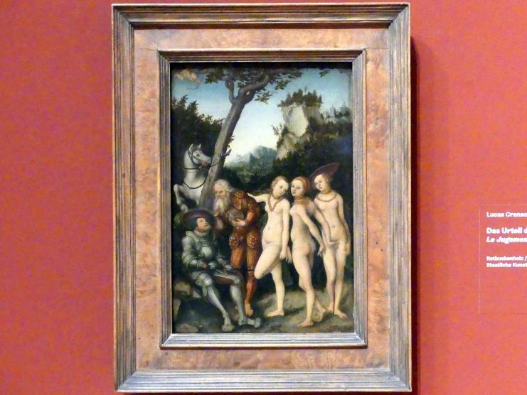 Lucas Cranach der Ältere: Das Urteil des Paris, 1530