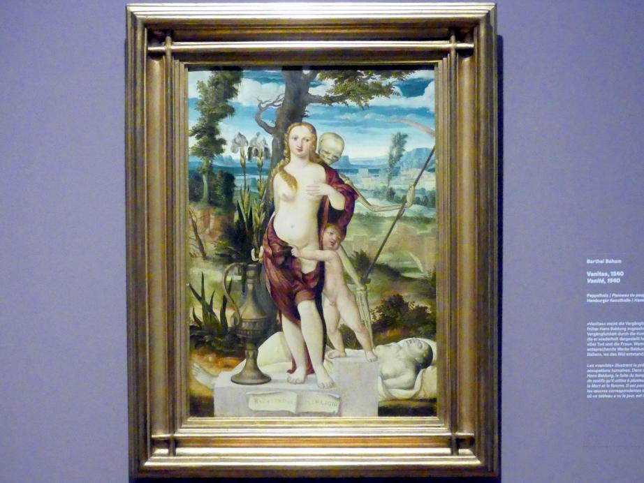 Barthel Beham: Vanitas, 1540