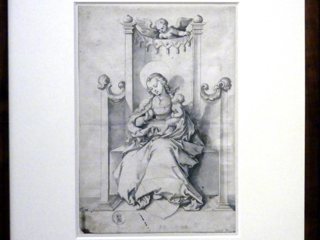 Hans Baldung Grien: Thronende Maria mit Kind als Patronin Straßburgs, um 1530 - 1533
