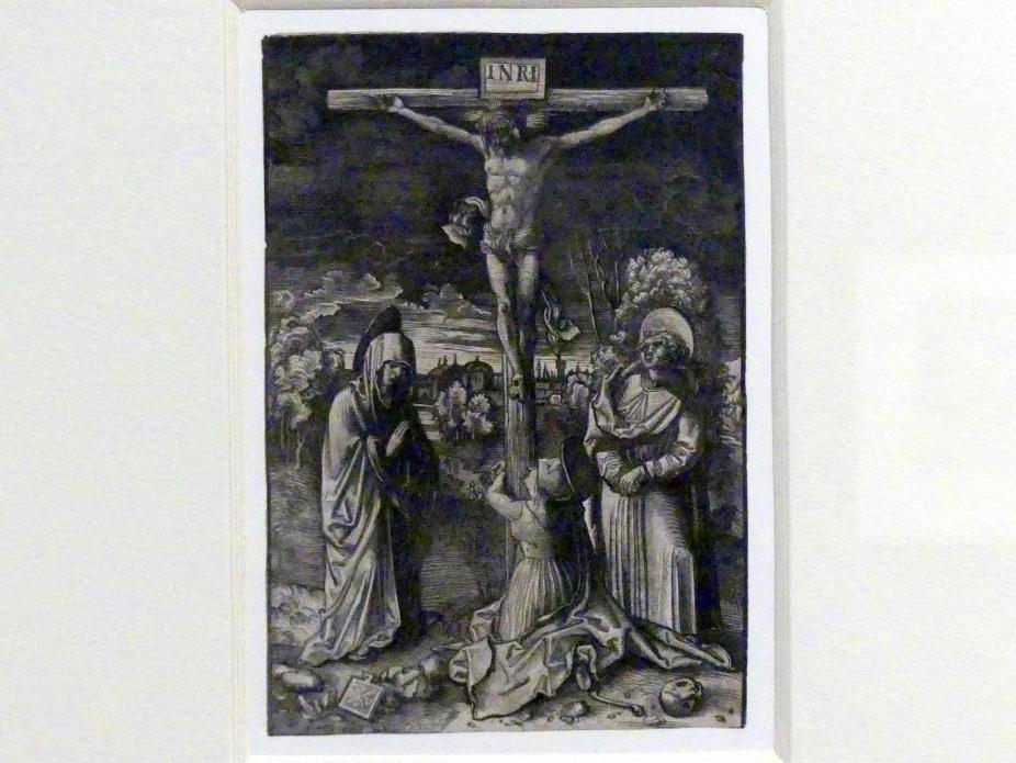 Johannes Wechtlin: Christus am Kreuz mit Maria, Johannes und Maria Magdalena, um 1510