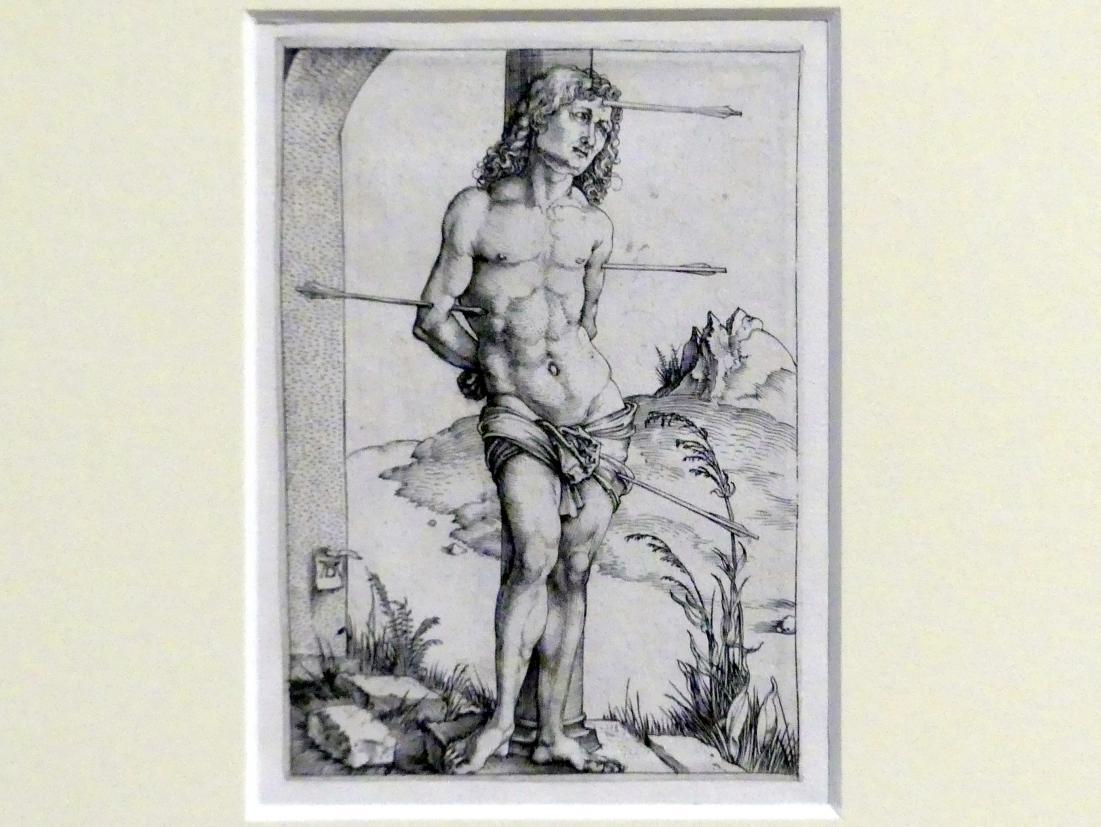 Albrecht Dürer: Der heilige Sebastian an der Säule, um 1499