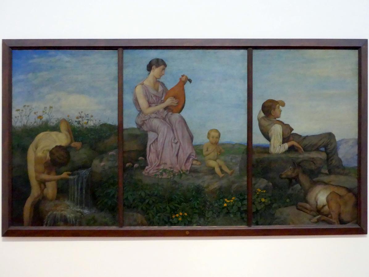 "Hans Thoma: Triptychon ""Die Quelle"", 1910 - 1915"